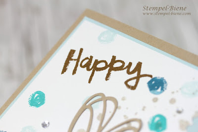 Paint Play; Stampinup, Demonstrator; Stempel-Biene; Geburtstagskarte; Sale a bration 2018