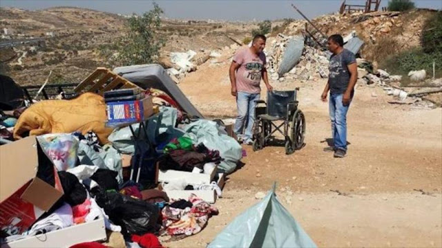 Israel demuele viviendas palestinas, dejando 44 desplazados
