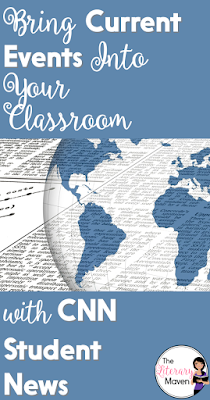 For relevant, accurate, and appropriate current events to share with your students, try watching CNN Student News. With new content daily, the ten minute segments are an easy way to incorporate nonfiction into your classroom and engage your students with real world issues.