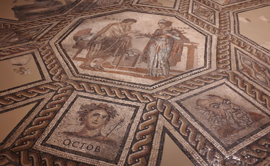 Roman mosaic floor, Trier Archeological Museum | Happy in Red