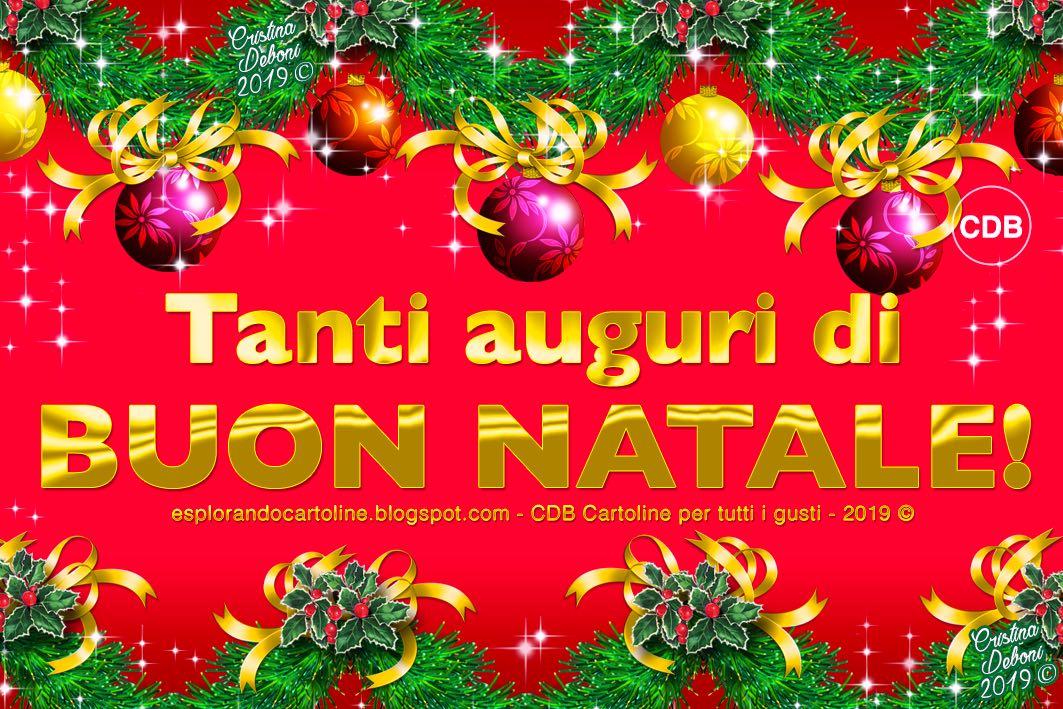 Auguri Di Natale Immagini Gratis.Cdb Cartoline Per Tutti I Gusti Cartolina Tanti Auguri Di Buon Natale Con Illustrazione Di Decorazioni Di Festoni E Sfere Natalizie Su Sfondo Rosso Da Scaricare Gratis