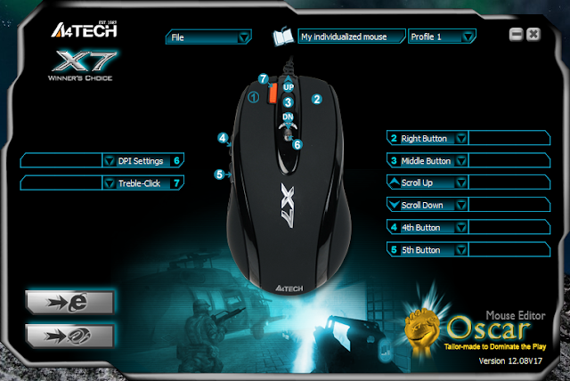 install driver x7 mouse