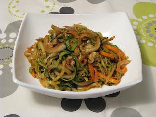 Noodles de calabac�n y zanahoria