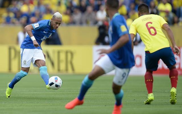 Horário do Jogo Brasil x Equador quinta-feira Eliminatórias da Copa - 31/08/2017