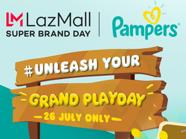 Lazada and Pampers Celebrate their Second Super Brand Day on July 26!
