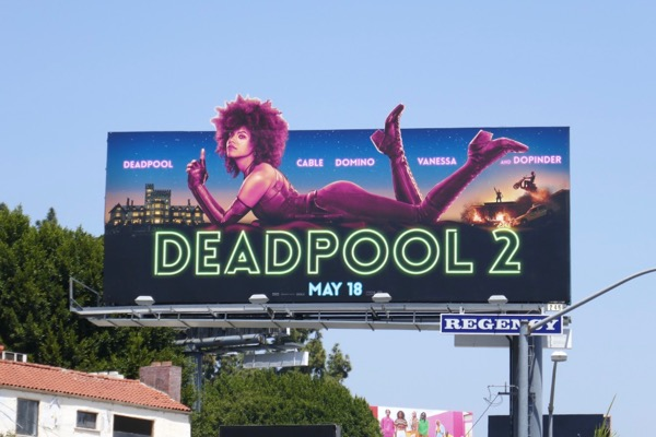 Deadpool 2 Domino cut-out billboard