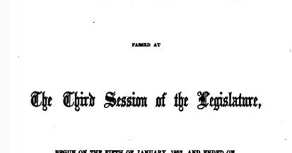 Selected Genealogical Abstracts From the California Statutes - 1852