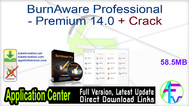 BurnAware Professional – Premium 14.0 + Crack