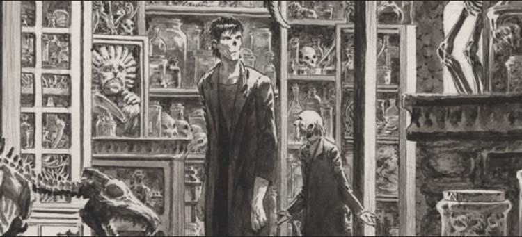 Detalle del cómic de Frankenstein ¡Está vivo!, de Bernie Wrightson y Steve Niles