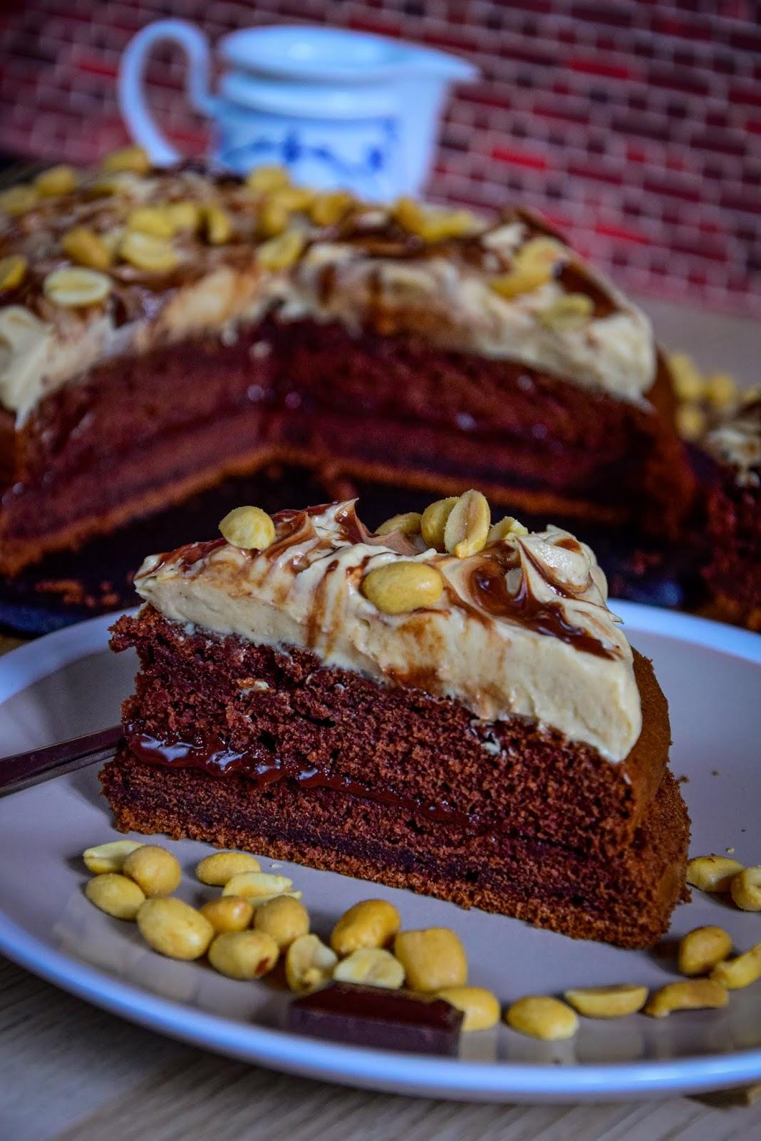 Kiras Bakery Peanut Butter Chocolate Cake Erdnuss Torte Snickers Torte