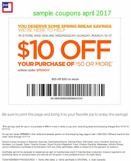 JCPenney coupons for april 2017