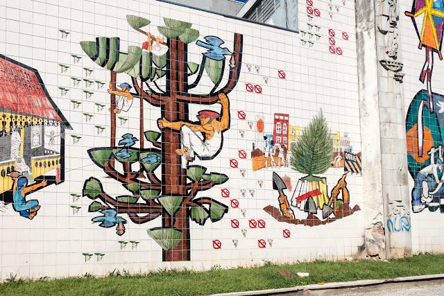 Imagens da Cidade, um mural de Poty Lazzarotto