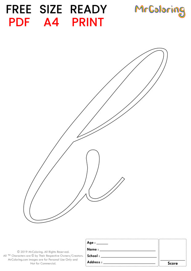 Alphabet letter b coloring pages lowercase script for kids