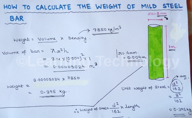 Learning Technology How To Calculate Weight Of Steel Bar
