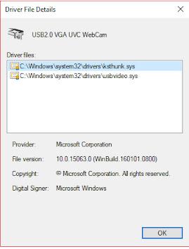 Install driver webcam