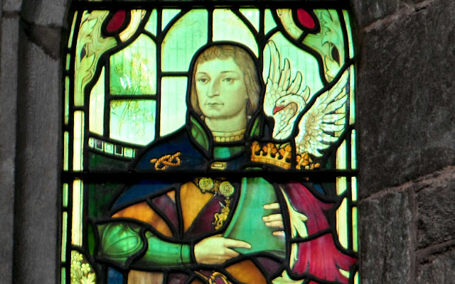 Stained-glass depicting Edward Stafford