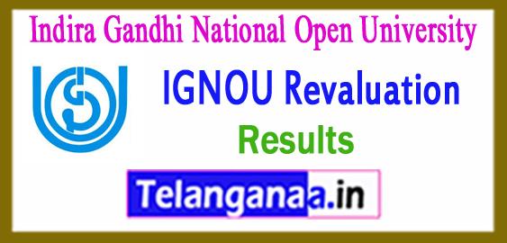 IGNOU Indira Gandhi National Open University Revaluation Result 2018