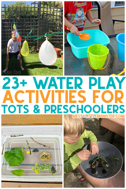 water activities for toddlers and preschoolers