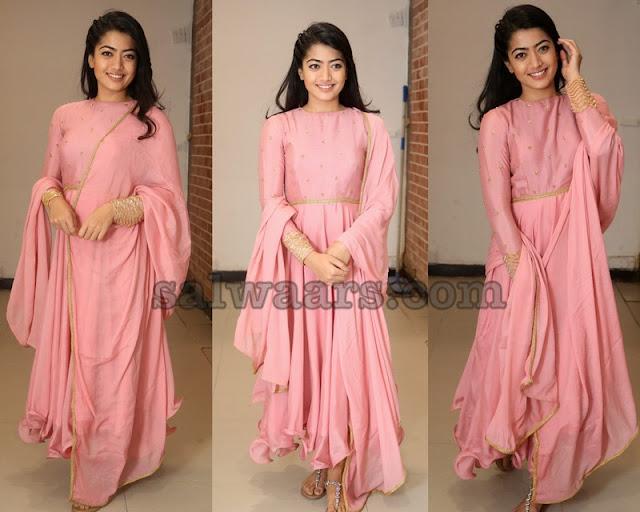 Rashmika Mandanna Pink Salwar Kameez