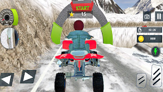 Offroad Snow Mountain ATV Quad Bike Racing Stunts