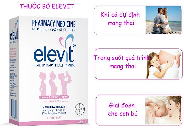 Elevit- bí kíp cho sức khỏe của mẹ bầu