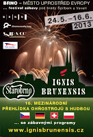 Ignis Brunensis 2013. Fireworks Competition.