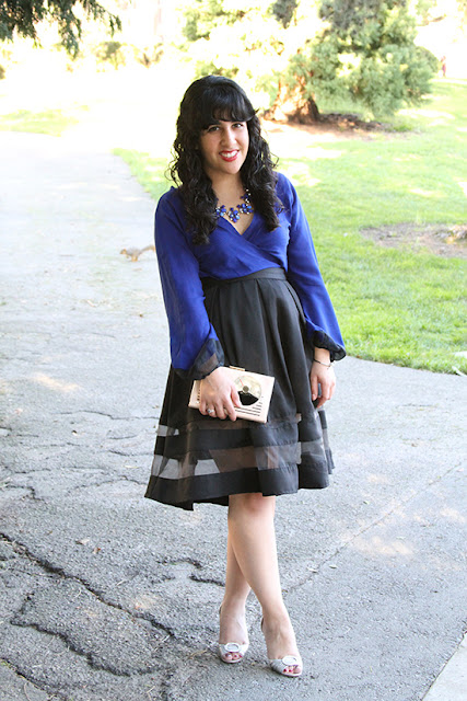 Blue and Black Date Night Outfit