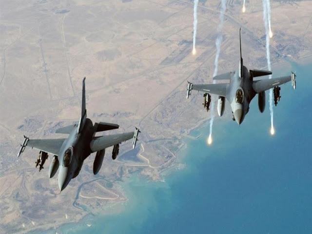 غارات جوية عنيفه للتحالف العربي على الحوثيين في الضالع