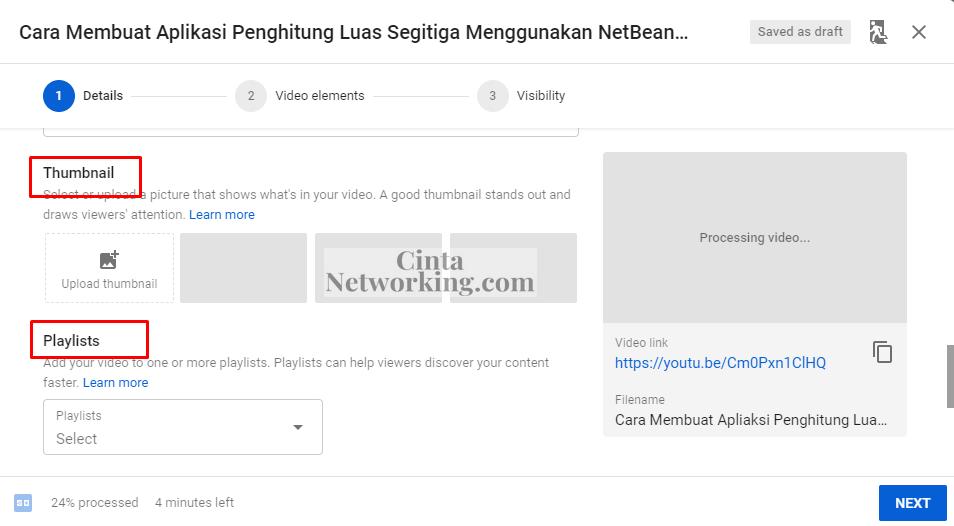 Cara Mengunggah atau Mengupload Vidio ke Youtube Dengan Mudah - Cintanetworking.com