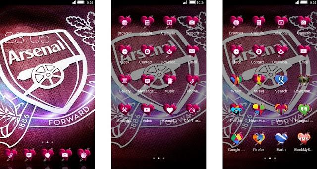 Download Tema Arsenal untuk Hp Android Apk - Pink