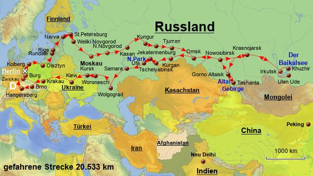 Russland Mit Dem Wohnmobil Durch Sibirien Zum Baikalsee Route 4