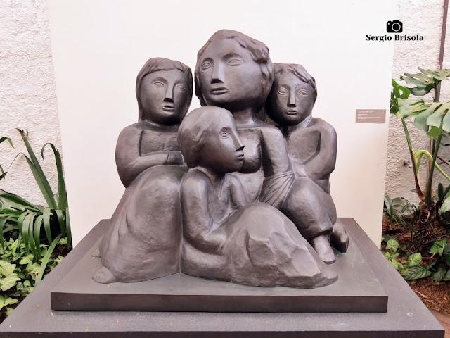 Close-up da Escultura Emigrantes (réplica) - Museu Lasar Segall - São Paulo