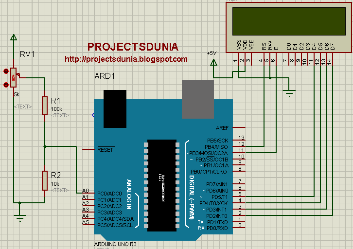 learn how to make a digital voltmeter using arduino projectsduniaarduino based dc voltmeter circuit
