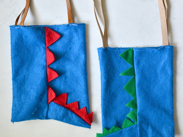 How to Sew an Easy Felt Dinosaur Bag