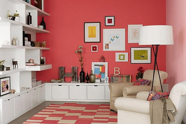 thiết kế nội thất màu da cam