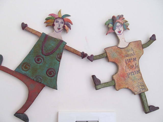 hillovely, Hilla bushari, fimo, polymer clay, fimo on the wall, faux ceramic,