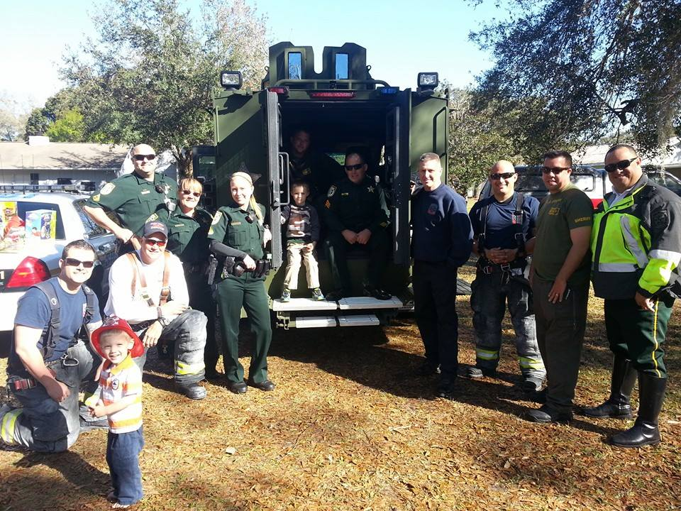 Nobody came to this little autistic boy's birthday party, so his momma took to Facebook for help. Soon, firefighters, police officers, and local kids all turned up to help him celebrate his birthday!