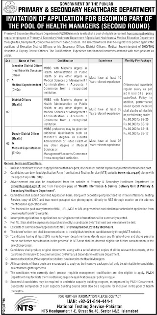 Doctors Jobs in Pakistan EDO Jobs DOH jobs