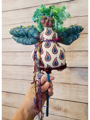 Light Carrier - OOAK Dragonfly Spirit Doll