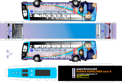 paper craft bus IPB