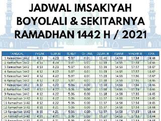jadwal imsakiyah daerah boyolali 2021
