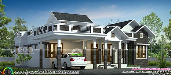 3 BHK house with stair room in 1740 square feet