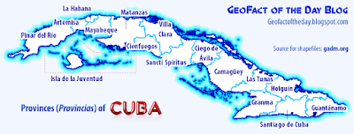 Map of Cuban provinces