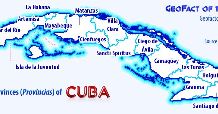 GeoFact Of The Day Provinces Of Cuba - Cuba provinces map