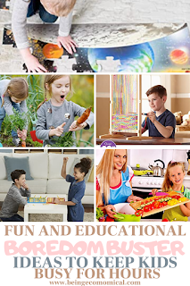 Boredom Buster Ideas Perfect To Keep Kids Busy And Learning - Being Ecomomical