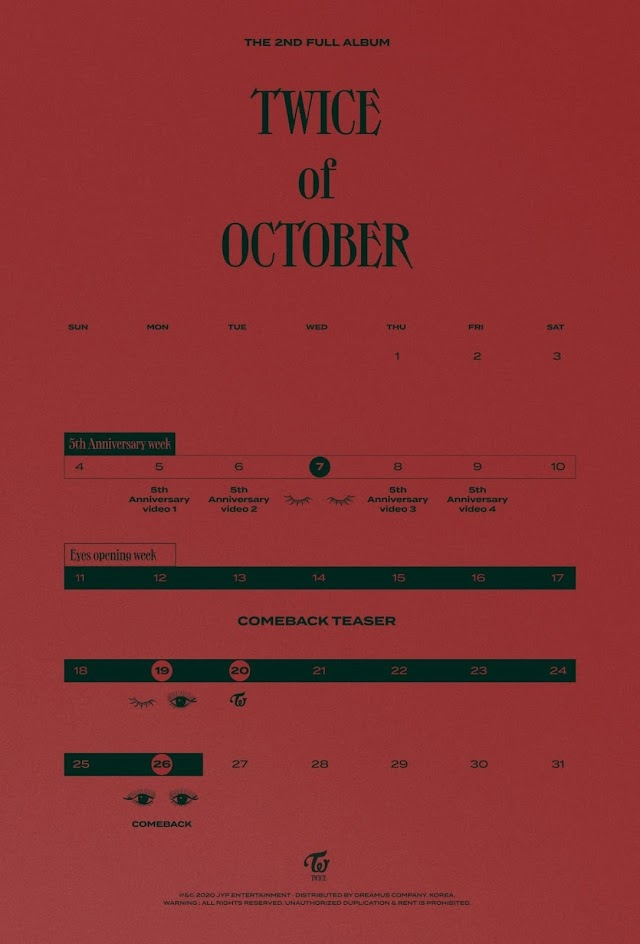 Knetz gets excited as TWICE release the timeline for their new album 'TWICE of October' and for the 5th Anniversary!