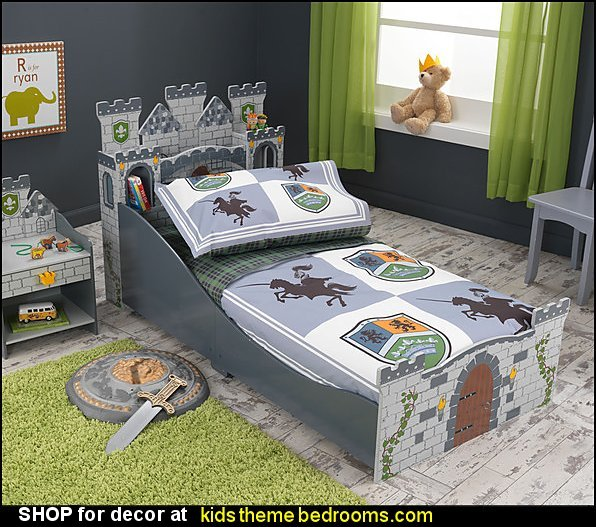 Medieval Castle Toddler Bed Knights and Shields knights dragons bedroom ideas