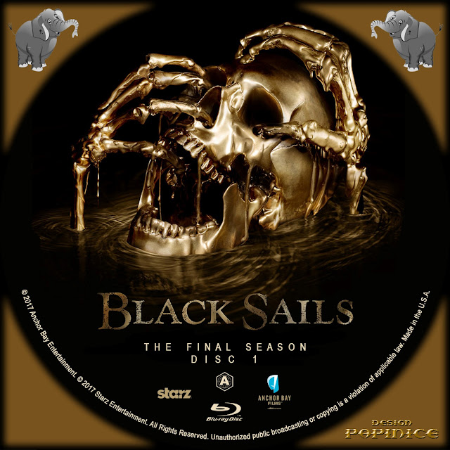 Black Sails Season 4 Disc 1 Bluray Label