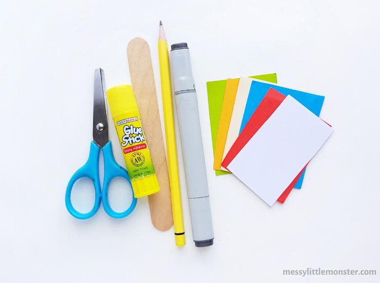 Superhero bookmark craft supplies