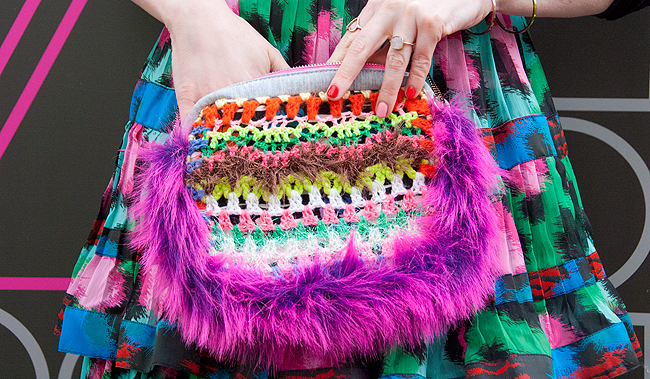 CeliaB, crochet bag, little monster bag